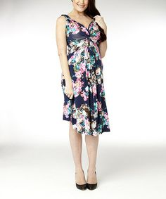 Loving this Ink Floral Knot Di Maternity Dress on #zulily! #zulilyfinds