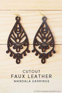 DIY: Cutout Faux Leather Earrings