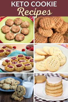 From keto chocolate chip cookies to sugar-free peanut butter cookies, these keto cookie recipes are the best ones you'll find! Chocolate Zucchini Cookies, Flourless Chocolate Cookies, Butter Chocolate Chip Cookies, Keto Chocolate Chips, Low Carb Chocolate, Sugar Free Peanut Butter Cookies, Sugar Free Desserts, Sugar Free Recipes, Keto Cookies