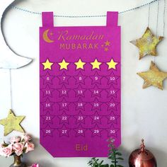 Ramadan Calendar Eid Mubarak Hanging Countdown Calendar for Kids Eid Gifts Decor Kids Calendar, Countdown Calendar, Calendar Wall, Advent Calendar, Wedding Reception Table Decorations, Birthday Party Decorations, Eid Mubarak, Groomsmen Gift Bags, Jungle Theme Birthday