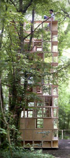 Observatory pavilion / CLP architectes The... - instalaciones efimeras