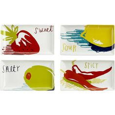 Set of 4 Crave Plates I Crate and Barrel