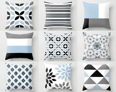 Throw Pillow Covers Red and White Pillow Covers Floral Pillow Covers Red White Decor Decorative Pillow Cover Accent Pillow Cover Grey And White Cushions, Floral Pillow Cover, Red White Decor, Decorative Pillows Couch, Pillows Decorative Diy, Pillow Decorative Bedroom, Blue Throw Pillows, Black And White Pillows, Decorative Pillows