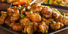 Orange Chicken is a dish that people just can't seem to get enough of, ourselves included! Unfortunately, most orange chicken recipes use a lot of sugar and then deep-fry the chicken, so it's not. Asian Recipes, Healthy Recipes, Ethnic Recipes, Easy Recipes, Oriental Recipes, Chinese Recipes, Vegetarian Recipes, Easy Meals, Poulet General Tao
