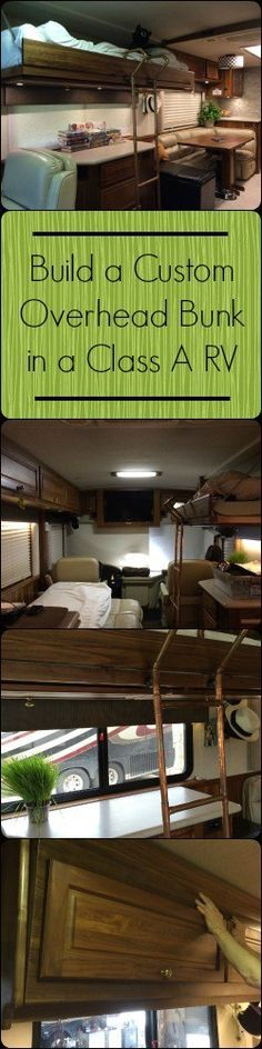 How we built a custom overhead bunk in our Class A motorhome for our teenaged daughter.