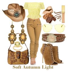 Soft Autumn Light by prettyyourworld on Polyvore featuring Miss Selfridge, Michael Kors, American West, Pearlz Ocean, XOXO, Overland Sheepskin Co., Guerlain, AERIN and Bobbi Brown Cosmetics