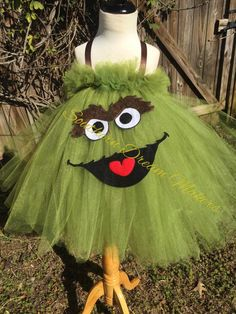 Grouchy Monster Tutu, Oscar the Grouch Inspired Tutu, Oscar inspired tutu, Green Monster Tutu, Monster Tutu, Halloween Tutu, Birthday Tutu by SouthernDreamMakers on Etsy https://www.etsy.com/listing/263598426/grouchy-monster-tutu-oscar-the-grouch