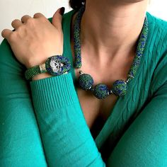 Three balls necklace and matching bracelet cameleon beads green and blue http://ift.tt/2kbnRPW #supporthandmade #smallbusiness #smallbussiness #etsyjewelry #beadedjewelry #beadcrochet #beadednecklace #beadedballs #ball #necklace #collar #handmadejewelry #handmadejewellery #handmade