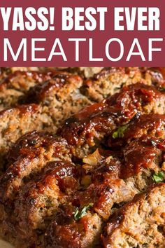 Best Meatloaf The best ever meatloaf recipe. This is a great recipe if you want a truly moist and delicious flavorful meatloaf.The best ever meatloaf recipe. This is a great recipe if you want a truly moist and delicious flavorful meatloaf. The Best Ever Meatloaf Recipe, Best Meatloaf, 2 Pound Meatloaf Recipe, Homemade Meatloaf, Stuffed Meatloaf Recipes, Moist Meatloaf Recipes, Best Meat Loaf Recipe, Meatloaf In Crockpot, Best Meat Loaf Ever