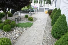 stamped concrete color Stamped Concrete Colors, Garden Landscaping, Paths, Sidewalk, Backyard, Exterior, Walkways, Landscape, Yard Ideas