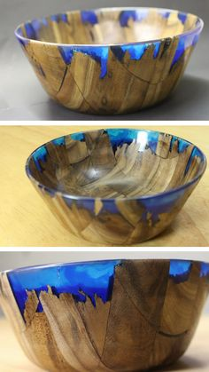 Artisan Peter Brown shares how he crafted this beautiful wood and resin bowl in a step by step video tutorial. Artisan Peter Brown shares how he crafted this beautiful wood and resin bowl in a step by step video tutorial. Diy Resin Art, Diy Resin Crafts, Wood Crafts, Diy Resin Bowl, Stick Crafts, Wood Turning Projects, Diy Wood Projects, Ocean Projects, Art Projects