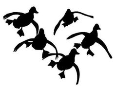 Ducks Flying Hunting Vinyl Decal Car Window Wall Laptop Sticker ANY SIZE #Tintster #RTA