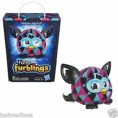 NEW Furby Furbling Plush Cute Creature Pink/Blue/Black Triangles - F/S - Age 6+