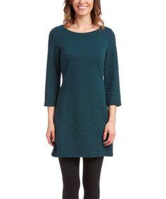 Winter - Love this Hunter Green Textured Tunic Dress on #zulily! #zulilyfinds