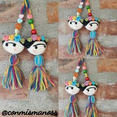 Frida kahlo amigurumi, crochet para llavero o movil