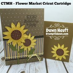 Fun with Daisies! #ctmh #ctmhflowermarket #cricut #daisies #card