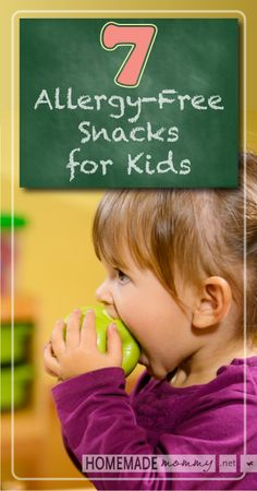 7 Allergy Free Snacks for Kids | www.homemademommy.net #article #parenting