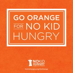 Go Orange for No Kid Hungry! Little Free Pantry, Community Service Projects, Small Acts Of Kindness, Inspiring Things, Giving Back, Helping Others, Charity, Encouragement, Wisdom