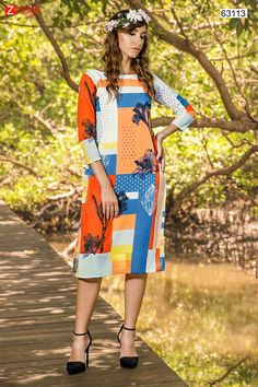 Incredible Straight Kurti Style in Multiple. Message/call/WhatsApp at +91-9246261661 or Visit www.zinnga.com