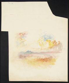 possibly Hadrian's Villa, or Vesuvius and the Bay of Naples c.1842