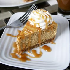 Pumpkin Cheesecake with Caramel