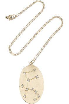 Brooke Gregson|Aquarius 14-karat gold diamond necklace|NET-A-PORTER.COM