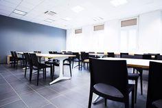 L'area di studio dello studentato di Pescara.