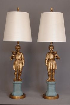 Pair Of Vintage YOUNG BOYS Table Lamps   Empel Collections. We Have Made  Lamps From