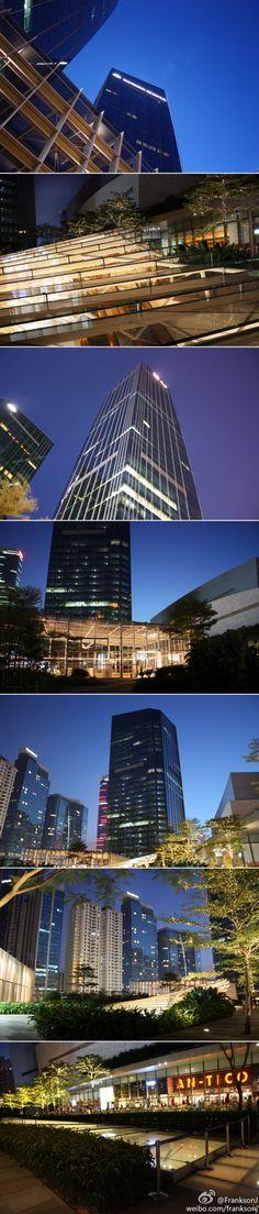 a nighview in Guangzhou - Taikoo Hui L3 rooftop garden