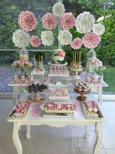Vintage to modern wedding dessert table ideas ❤ see more: ht Wedding Candy, Wedding Desserts, Bridal Shower Decorations, Wedding Decorations, Shower Party, Baby Shower, Candy Table, Vintage Bridal, Tea Party