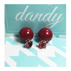 A personal favorite from my Etsy shop https://www.etsy.com/listing/387454830/red-pearl-earrings-double-side-earrings