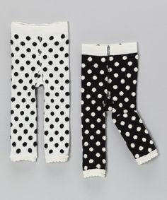 Polka dot baby leggings