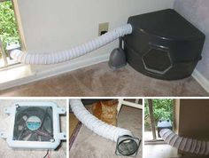 We hate our cat's litter box as much as the next cat owner, which is why we're always on the lookout for ways to decrease the eau de toilette that wafts around our apartment. We've yet to find a solution that really works. One Instructable user went to the extreme to come up with a solution by building an exhaust fan within his kitties' waste disposal area. While we don't think we'd go to such an extreme, we do appreciate the measures that this cat owner went to control his kittyies' odors.