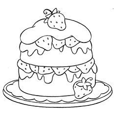 Disegno Di Torta Compleanno Con Palloncini Da Colorare Disegni E