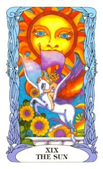 May 17 Tarot Card: The Sun (Moon Garden deck) Be happy, be hopeful, be free ... it's all good