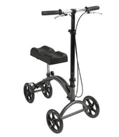 Knee Scooter Knee Walker by Healthline, Steerable Knee Scooter for Broken Foot Foldable - Knee Crutch Alternative Scooter - Steerable Knee Walker with Dual Brakes and Basket and Pad Cover Cushion, Black Knee Scooter, Broken Foot, Mobility Aids, Crutches, Medical Equipment, Bike, Alternative, Scooters, Health