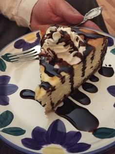 Cookie dough cheesecake I made! Yum!
