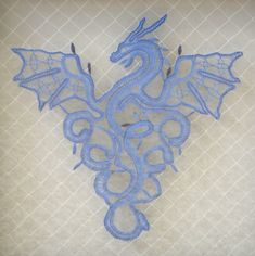 Amaizing Bobbin Lace Dragon. Anyone know where to find the pricking?