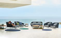 Mambo All Weather Wicker Patio Sofas & Lounge Chairs