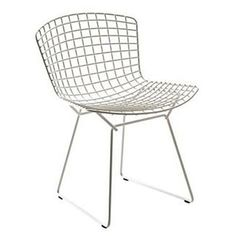 Discover The Authentic Bertoia Side Chair From Knoll, A Midcentury Modern  Chair In Wire Mesh, Part Of The Iconic Collection From Italian Artist And  ...