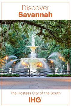 """Affectionately named the """"the Hostess City of the South"""", Savannah is known for small-town charm and classic southern hospitality. The city boasts the largest historic district in the United States, 22 cobblestone squares lined with historic homes and gardens (which now been restored and turned into restaurants), museums and hotels. Savannah's IHG® hotels are great stay options for travelers looking for a historic, music-centric, and artistic adventure unlike any other."""