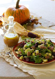 Fall salad w/ apple cider vinaigrette