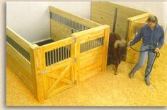 Horse Stalls by Woodstar Products - Miniature Horse Stalls