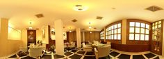 360 degree panorama of coffee shop