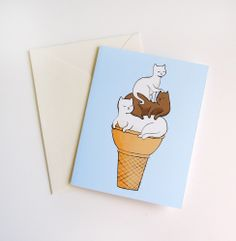 Soft-Served Kitties Card