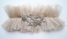 glitterati silk tulle garter by florriemitton on Etsy