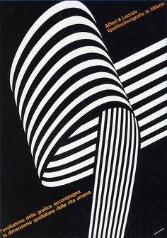 so awesome --- ad for Alfieri & Lacroix typo-lithographers by Franco Grignani (1964)