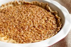 """This Amish """"Pecan"""" Pie uses oats instead of pecans. I normally don't like pies like this, but I had two pieces!"""