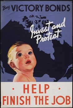 This propaganda posters shows how Canada wanted ordinary citizens to buy war bonds and help contribute to the war. This made it so that everyday people would still be able to help the government fund the war effort, in their own way. This shows how Canada, as a society, knew the importance of helping the government in every way possible and you can see that this was a major success. People who could not support the war effort by manufacturing goods (elderly or younger) were still able to do…
