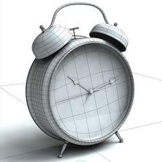 Alarm Clock 3D Model | Download Royalty Free Clock 3D Models - 3D Squirrel